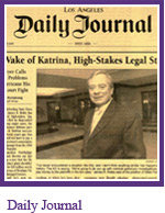 Daily Journal - In Wake of Katrina, High Stakes Legal Storm